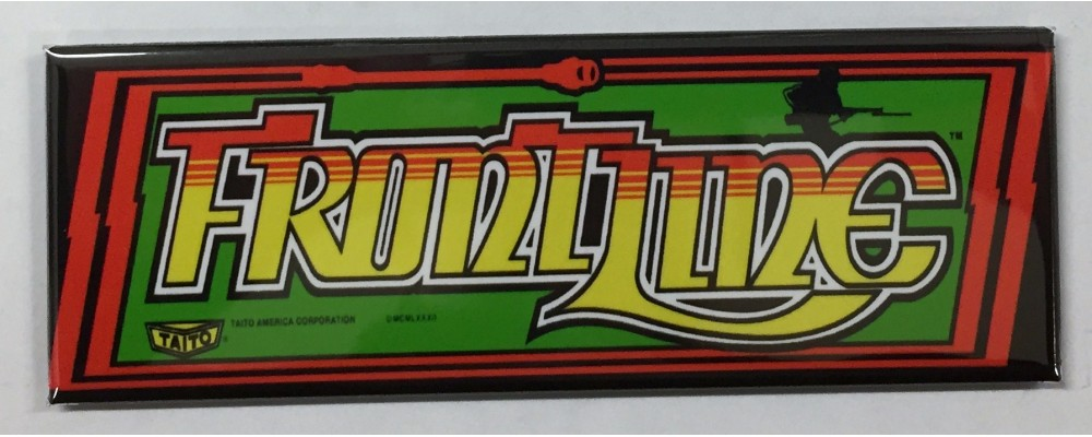 Front Line - Arcade Marquee - Magnet - Taito