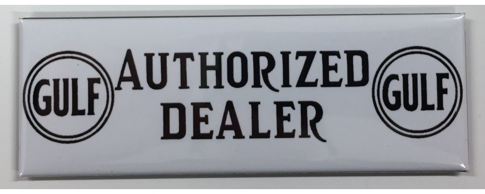 Gulf Authorized Dealer - Advertising - Magnet