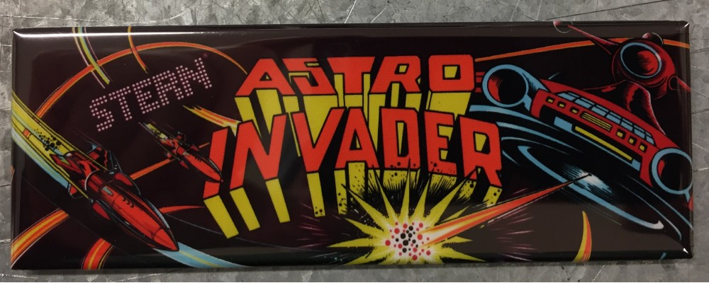 Astro Invader - Arcade Game Marquee - Magnet - Stern