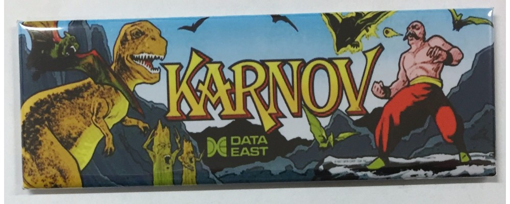 Karnov - Arcade Game Marquee - Magnet - Data East
