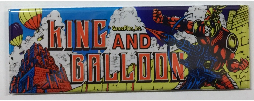 King And Balloon - Marquee - Magnet - Game Plan, Inc