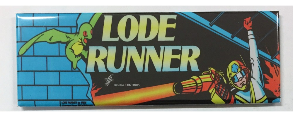 Lode Runner - Marquee - Magnet - Digital Controls