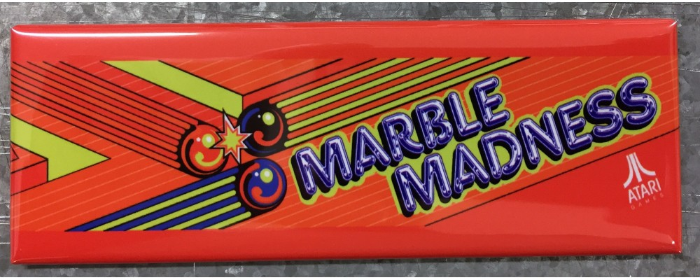 Marble Madness - Marquee - Magnet - Atari
