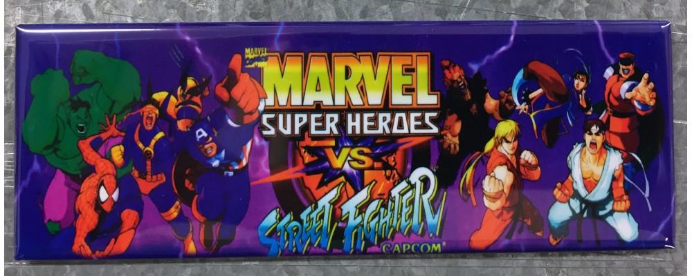 Marvel Super Heroes Vs Street Fighter - Marquee - Magnet - Capcom