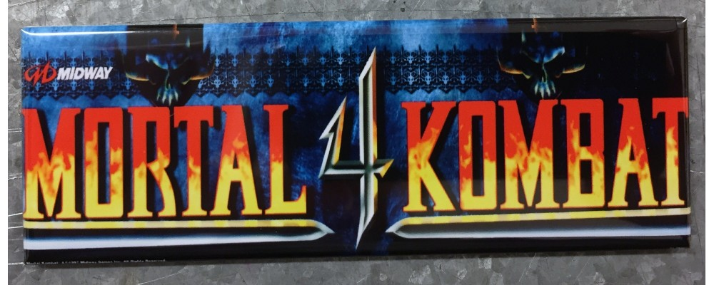 Mortal Kombat 4- Marquee - Magnet - Midway