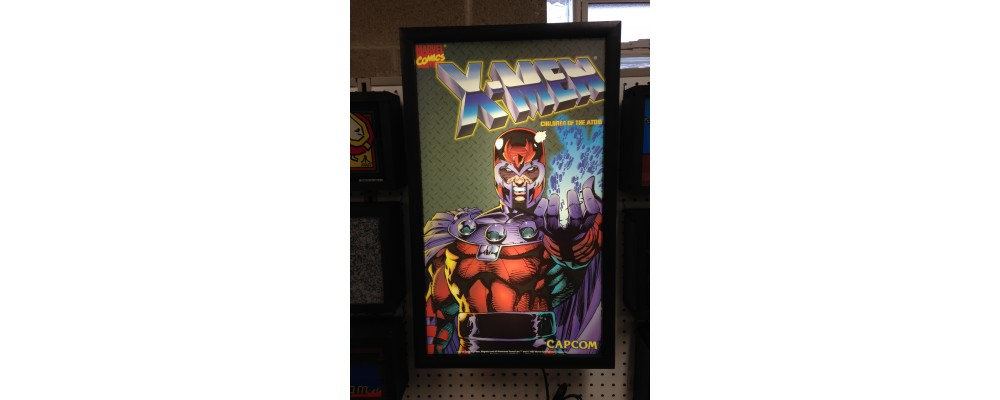 X-Men - Children Of Atom - Original Arcade Side Art - Lightbox - Capcom