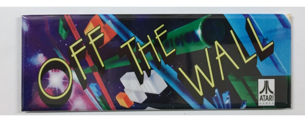 Off The Wall - Arcade Marquee - Magnet - Atari