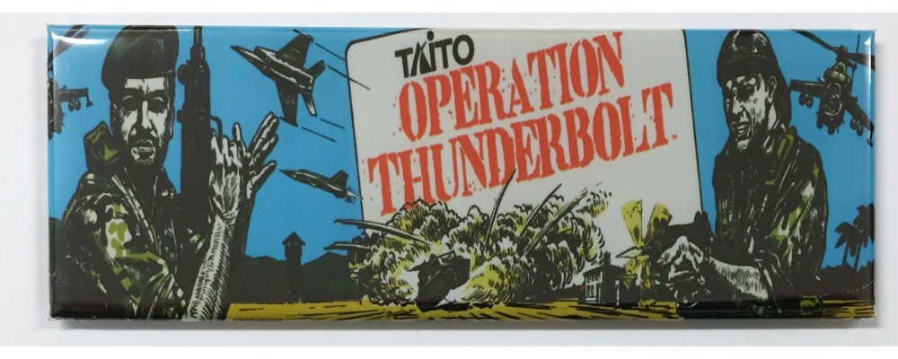 Operation Thunderbolt - Arcade Marquee - Magnet - Taito