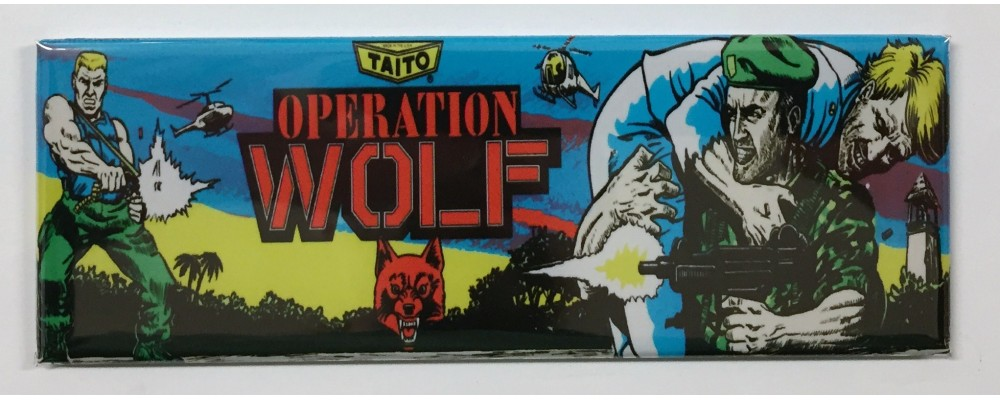 Operation Wolf - Arcade Marquee - Magnet - Taito