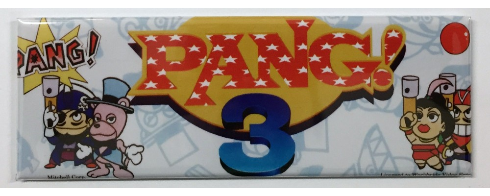Pang! 3 - Arcade Marquee - Magnet - Mitchell Corp