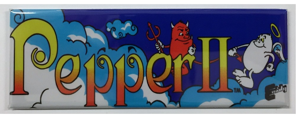 Pepper II - Arcade Marquee - Magnet - Exidy