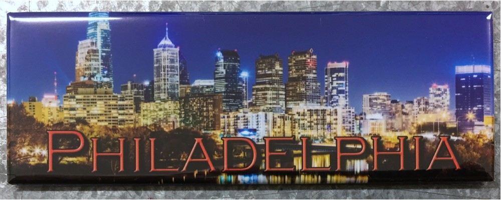 Philadelphia Night Skyline - Destinations - Magnet
