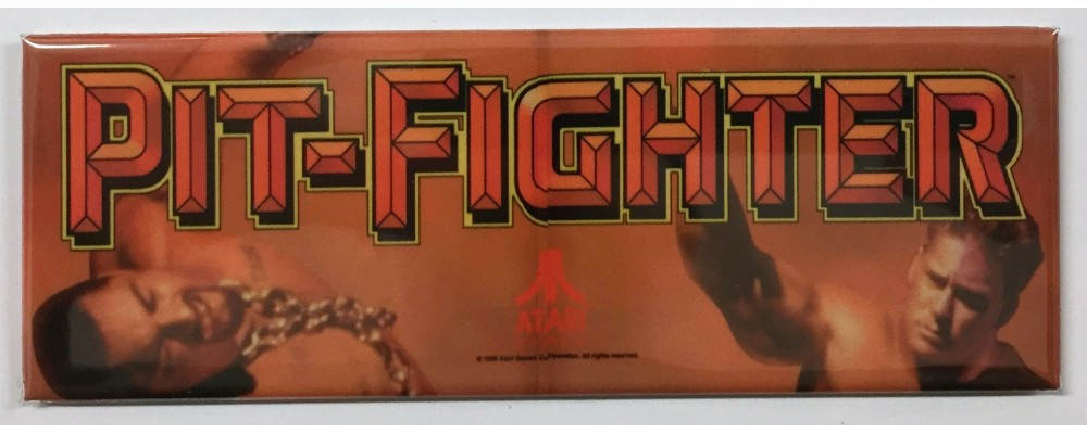 Pit Fighter - Arcade Marquee - Magnet - Atari