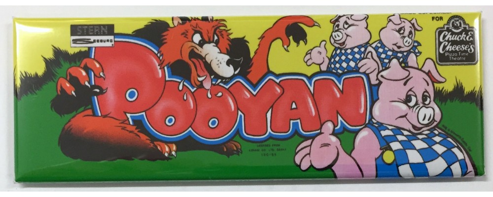 Pooyan - Arcade Game Marquee - Magnet - Stern