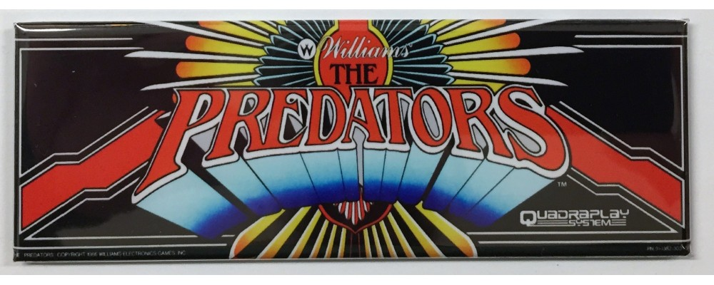 Predators - Arcade Marquee - Magnet - Williams