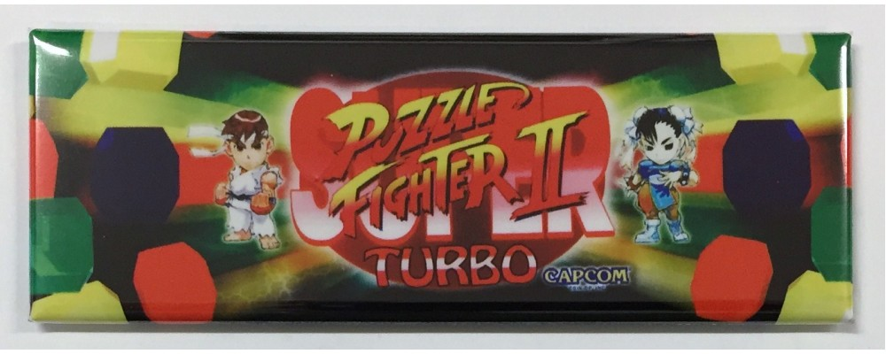 Puzzle Fighter 2 Turbo - Arcade Game Marquee - Magnet - Capcom
