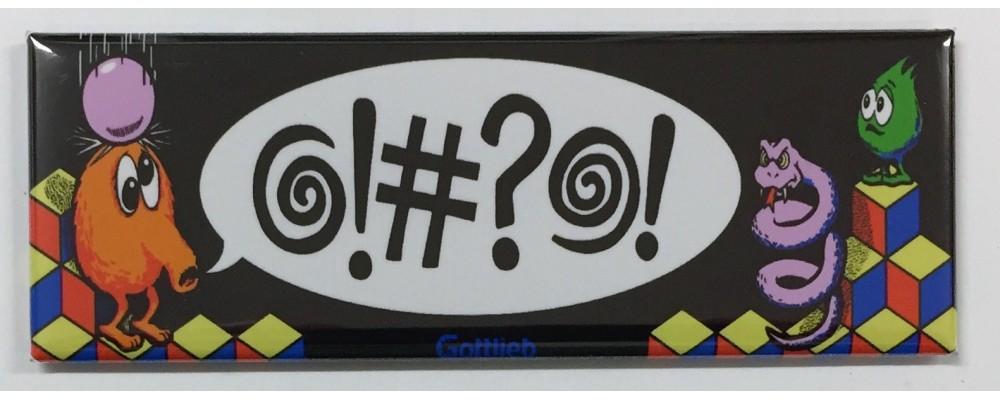 Q-Bert Arcade Game Marquee Fridge Magnet
