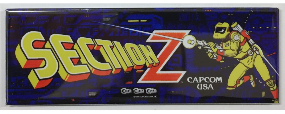 Section Z - Arcade Marquee - Magnet - Capcom