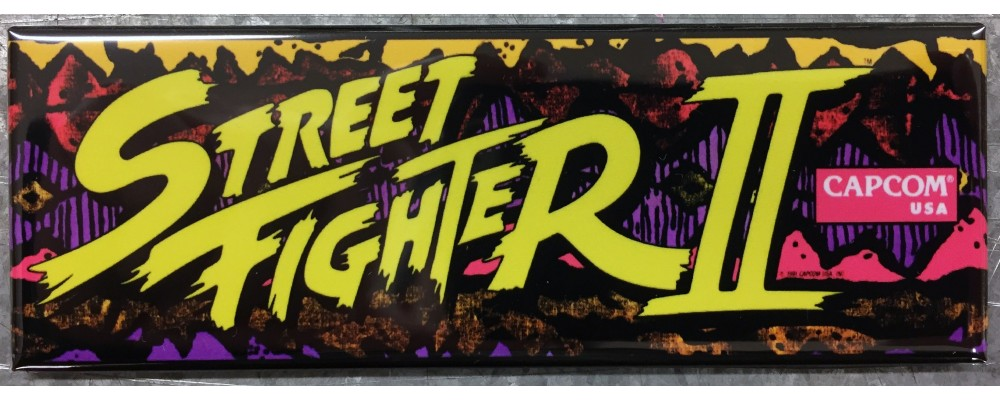Street Fighter II - Marquee - Magnet - Capcom