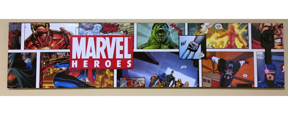 Marvel Super Heroes Pinball Machine Left Side Panel  - Wall Art  - Marvel