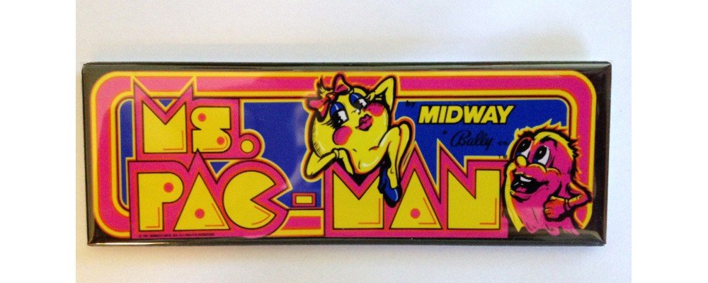 Ms. Pac-Man - Marquee - Magnet - Midway
