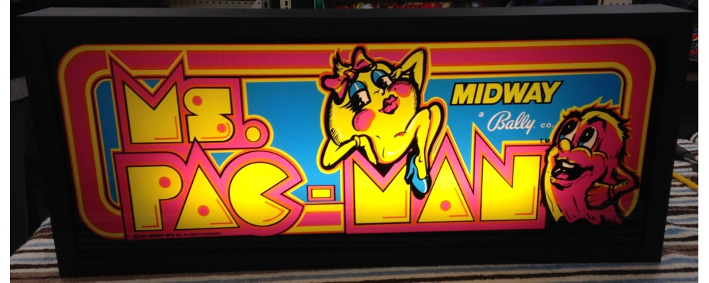 Ms Pac-Man Arcade Marquee - Lightbox - Midway