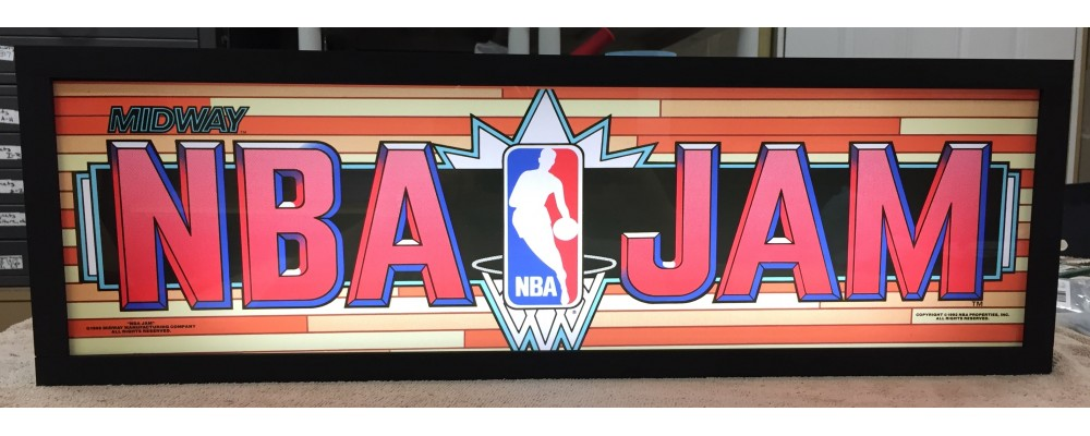 NBA Jam Arcade Marquee - Lightbox - Midway