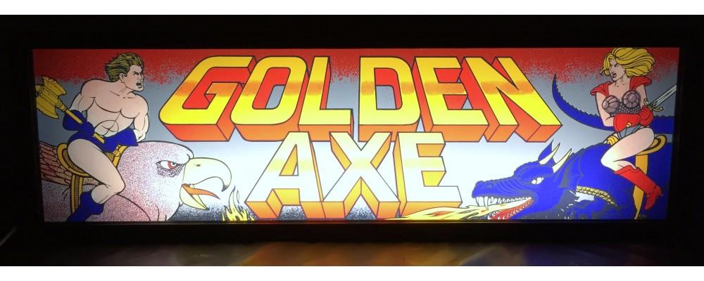 Golden Axe Arcade Marquee - Lightbox - Sega