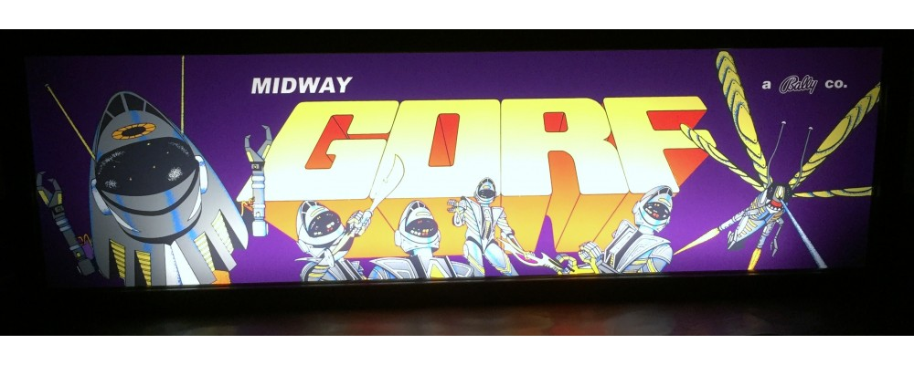 Gorf Arcade Marquee - Lightbox - Bally/Midway
