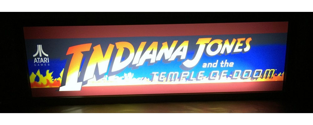 Indiana Jones Arcade Marquee - Lightbox - Atari