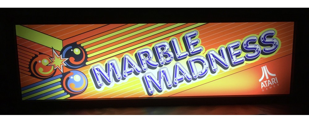 Marble Madness Arcade Marquee - Lightbox - Atari