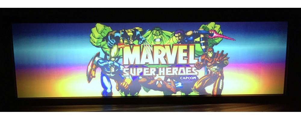 Marvel Super Heroes Arcade Marquee - Lightbox - Capcom