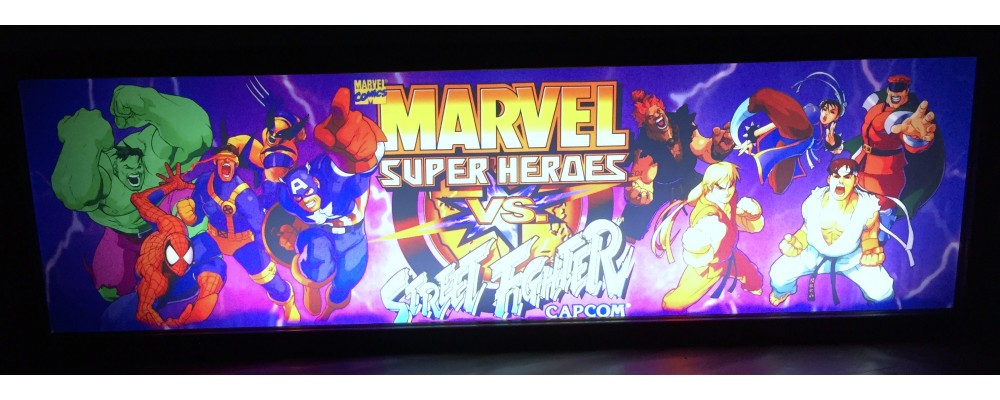 Marvel Vs Street Fighter Arcade Marquee - Lightbox - Capcom