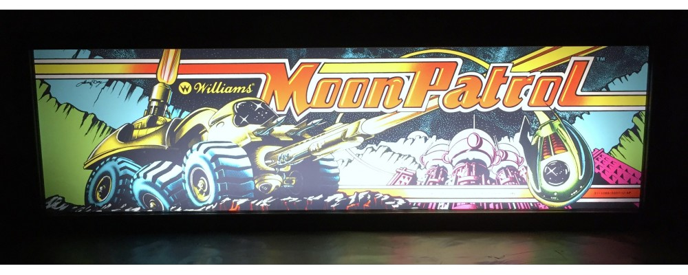 Moon Patrol Arcade Marquee - Lightbox - Williams