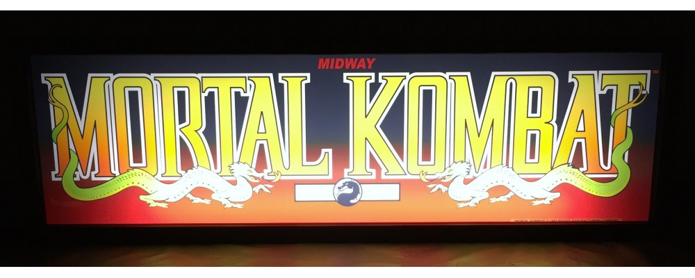 Mortal Kombat Arcade Marquee - Lightbox - Midway