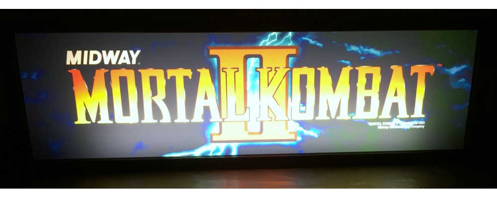 Mortal Kombat II Arcade Marquee - Lightbox - Midway