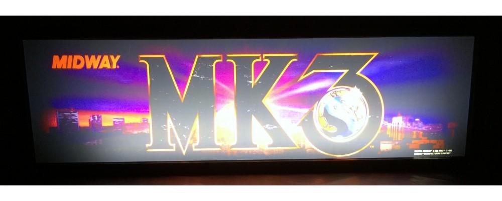 Mortal Kombat III Arcade Marquee - Lightbox - Midway