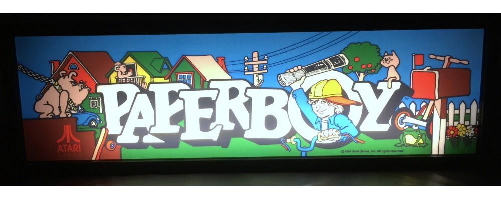 Paperboy Arcade Marquee - Lightbox - Atari