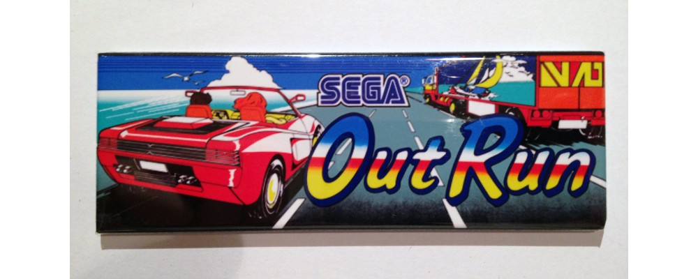 Out Run - Marquee - Magnet - Sega