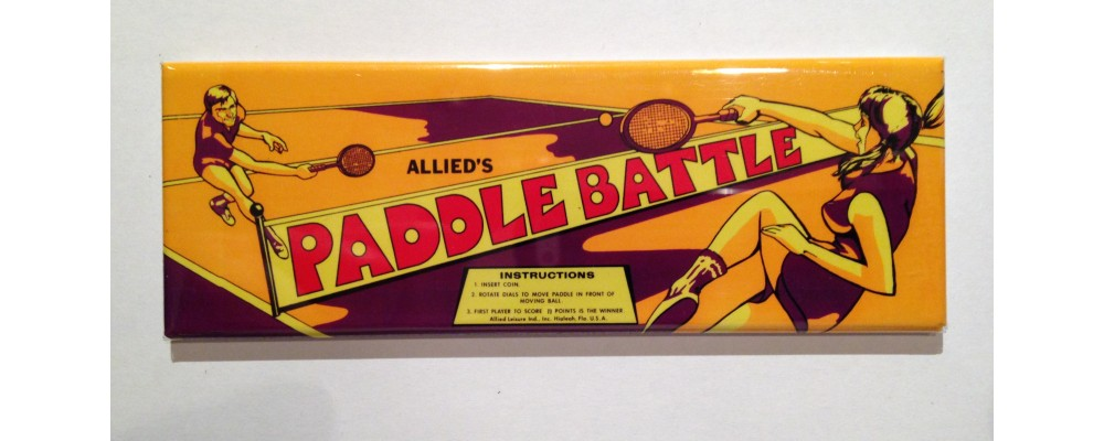 Paddle Battle - Marquee - Magnet - Allied