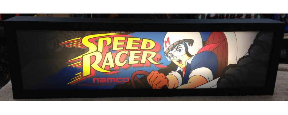 Speed Racer - Arcade Marquee Print - Lightbox - Namco