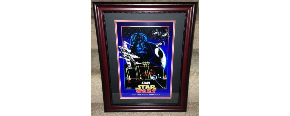Star Wars Reproduction Arcade Poster  - Framed Art Work  - Atari
