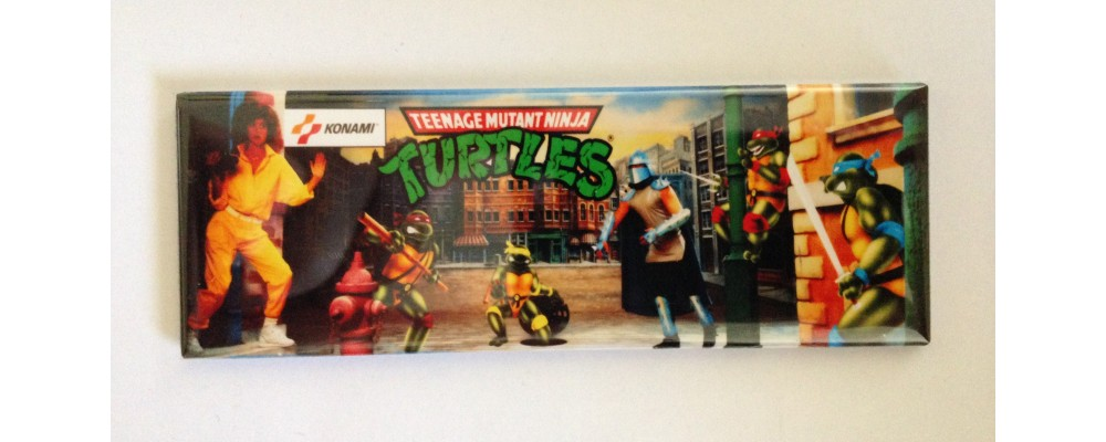 Teenage Mutant Ninja Turtles- Marquee - Magnet - Konami