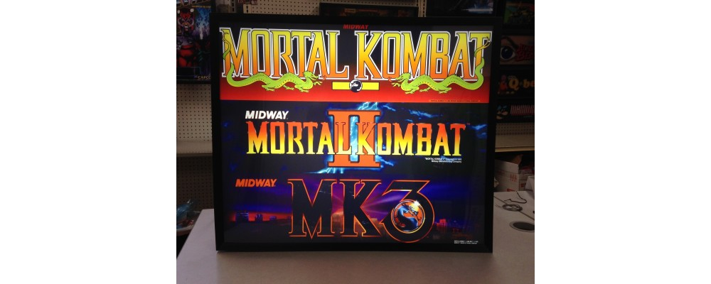 Mortal Kombat Triple Marquee - Arcade Marquee Print - Lightbox - Midway